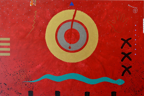 """""""Snake Dance Sun/Moon"""" by Doug Coffin"""