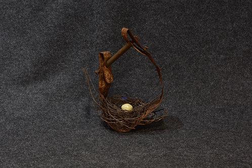 Handmade Stirrup Metal Nest by Phil Lichtenhan