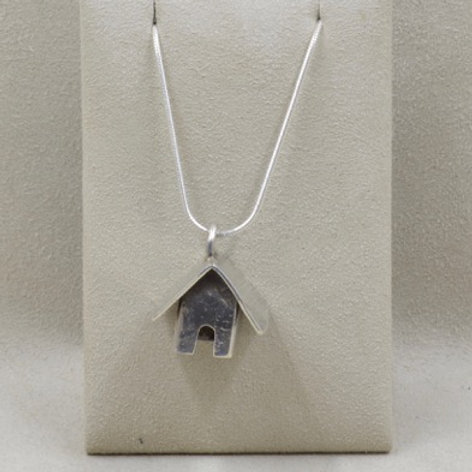 Sterling Silver Large Church Pendant by Richard Lindsay