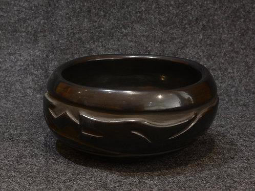 Black Carved Bowl by Elizabeth Naranjo, Santa Clara Pueblo