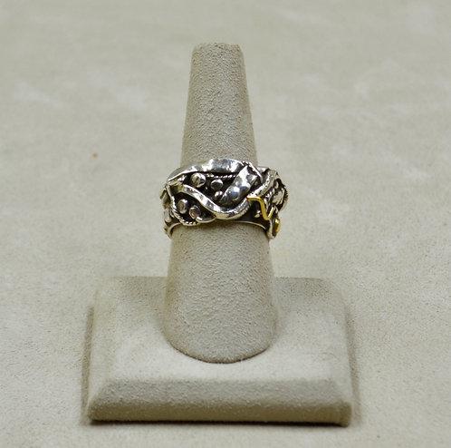 Silver Arroyo Seco w/SS Gold 7.5x Ring by Robert Mac Eustace Jones