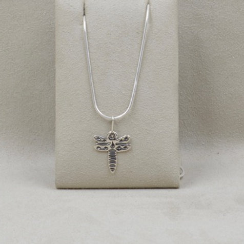 Sterling Silver Dragonfly Pendant on Chain by Richard Lindsay