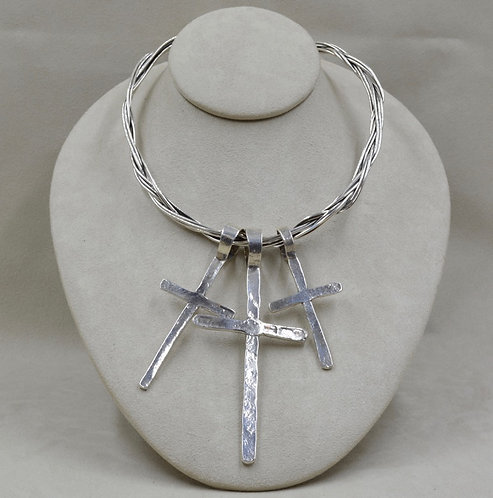 """18"""" Mixed Wire Collar by Richard Lindsay"""
