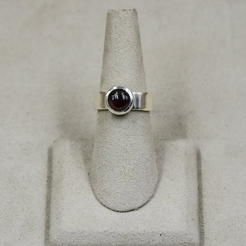 Red Garnet and Sterling Silver 6x Ring by John Paul Rangel
