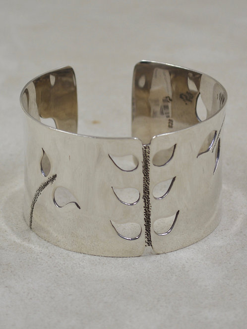 Sterling Silver Leaf Cutout Cuff by Roulette 18