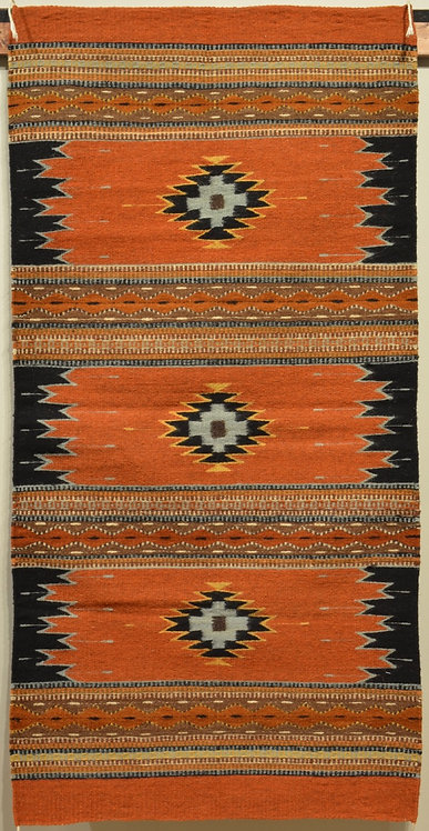 """Zapotec Candles Rug with No Fringe - 60"""" X 30"""""""