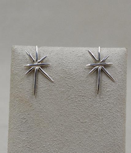 Sterling Silver Spike Star Post Earrings by Roulette 18