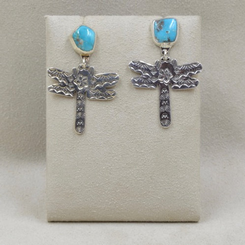 Sterling Silver Dragonfly with Turquoise by Richard Lindsay
