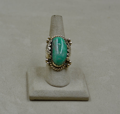 Candelaria Hills Turquoise, Scallop Style, 7.5x Ring by James Saunders