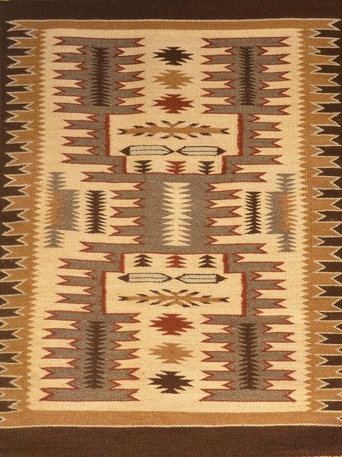 """Nora Many Beads - Storm Navajo Weaving - 36"""" X 26"""""""