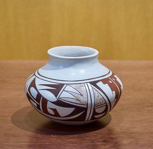 "Small Hopi Vase -  3 1/2""H x 4 1/2""D - by Loretta Navasie"