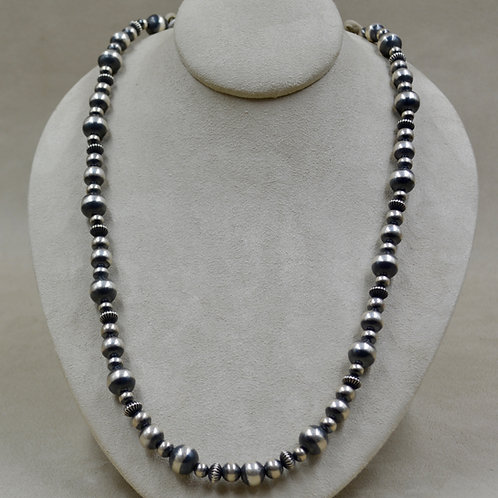 """Oxidized Sterling Silver Multi-Bead 38""""L Necklace by Shoofly 505"""