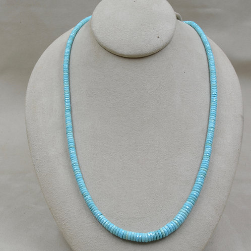 1 String Natural Sleeping Beauty Turquoise Necklace by Maggie Moser