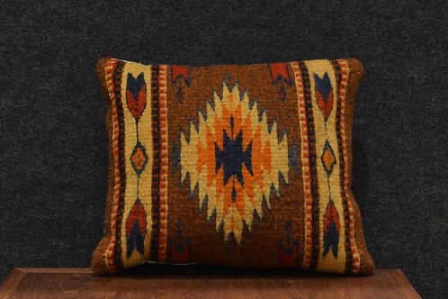 "Set of 2 Zapotec Peanut Pillows - 12"" X 14"""