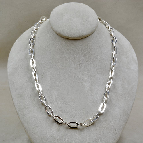 "All Sterling Silver Medium Link 23.5"" Necklace by Robert Mac Eustace Jones"