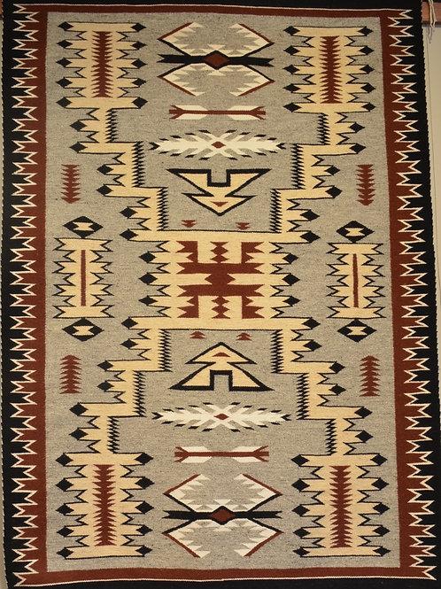 Arlene Johnson - Storm Navajo Weaving - 69 x 48