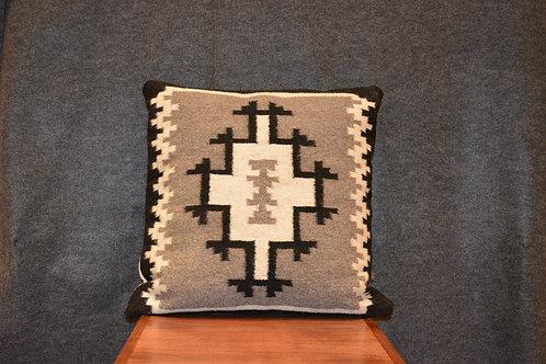 "Set of 2 Southwest Pattern - 2 Gray Hills Pillows - 23"" X 23"""