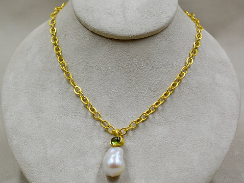 "22k Gold Planished 20""L Chain by Pamela Farland"