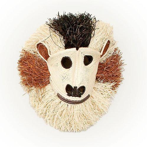 "Monkey Emberá Mask by Dorotea Zabugara - 12""W x 12""H"