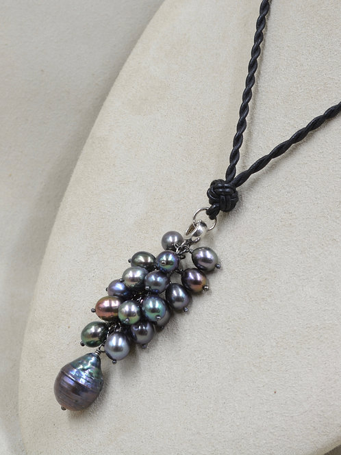 Enhanced Peacock Pearls Necklace by US Pearl Co.