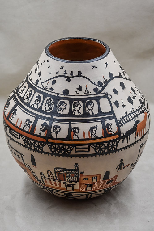 Train Pot with People by Robert Tenorio