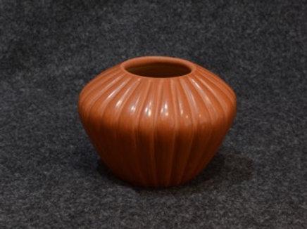 Brown Melon Pot by Pauline Romero - Jemez Pueblo