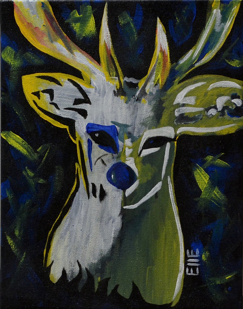"""""""The Look In My Eyes"""" Acrylic on Canvas - 14"""" x 11"""" - by Elle Claw"""