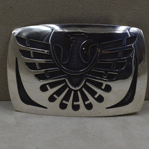 "Large Eagle Belt Buckle - ""Personal Prayers to Heaven"" - Hopi Overlay  by Koinva"