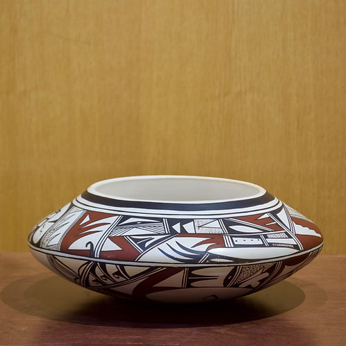 "Large Hopi Bowl - 4 1/2""H x 11 1/2""D - by Grace Navasie"