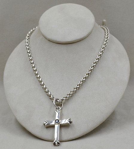 Sterling Silver 6mm Wheat Chain with Arrow Toggle by JL McKinney