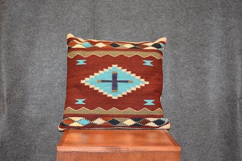 "Set of 2 Medium Square Zapotec Pillows - 20"" X 20"""