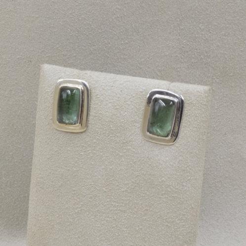 Green Tourmaline Earrings by Richard Lindsay
