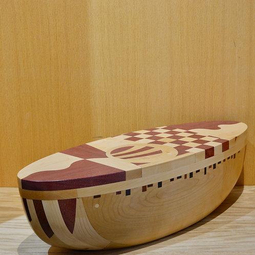 "Deck Wood Sculpture 7"" x 9"" x 25"" by Dave Larson"