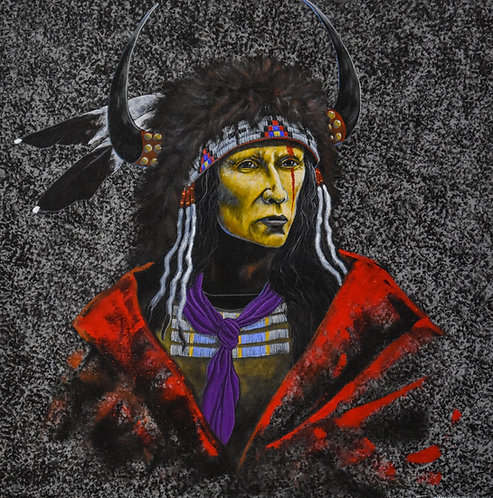"""""""Remembering the Old Songs"""" 24"""" x 24"""" - Ac on Canvas - by Yellowman"""