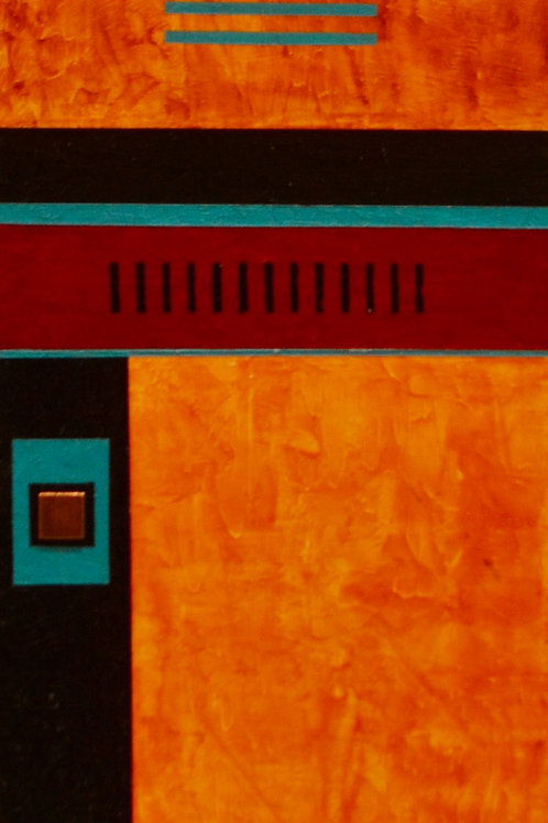 """""""Sacred Ground"""" Acrylic/Mixed on Panel - 32"""" x 8"""" - by Marilyn Jennings"""