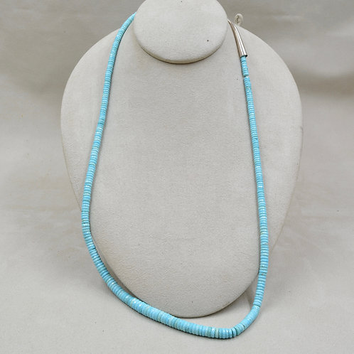 Extra Long 1 String Natural Sleeping Beauty Turquoise Necklace by Maggie Moser