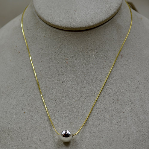 14k Gold Filled Chain w/ Sterling Silver Eunity Necklace by Sippecan Designs