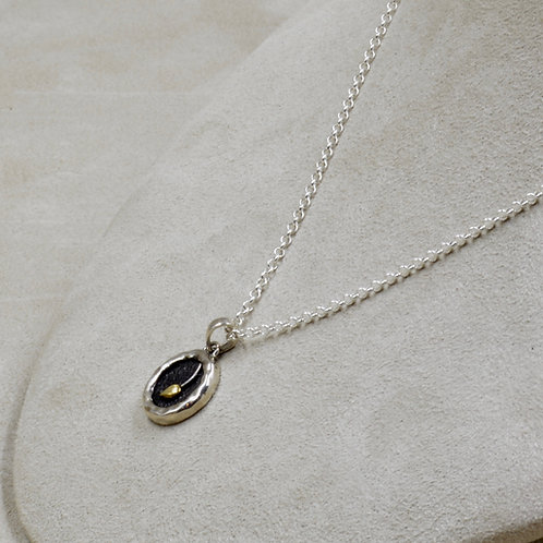 Bud in Mud on Sterling Silver Chain by Roulette 18