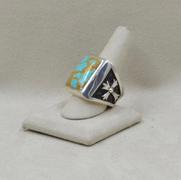 Stone Temple Kingman Turquoise Ring by JL McKinney