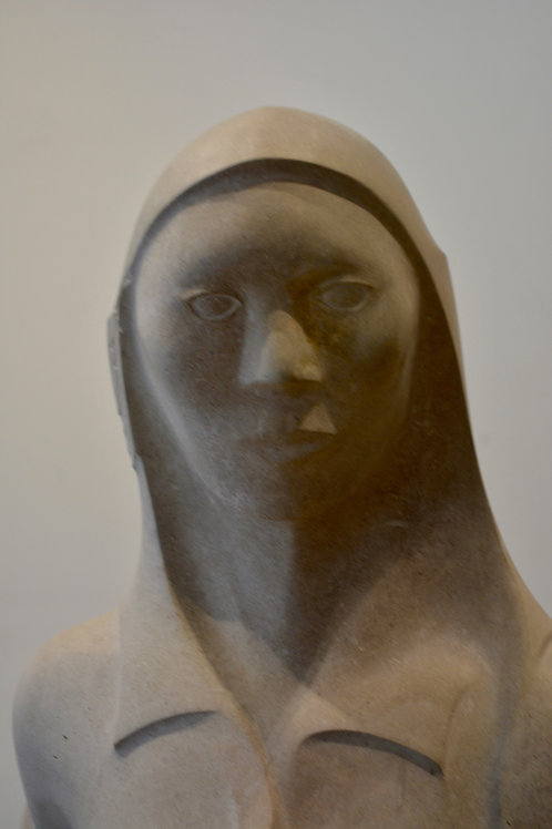 Corn Pollen Maiden, Limestone & Marble, by Eddy Shorty