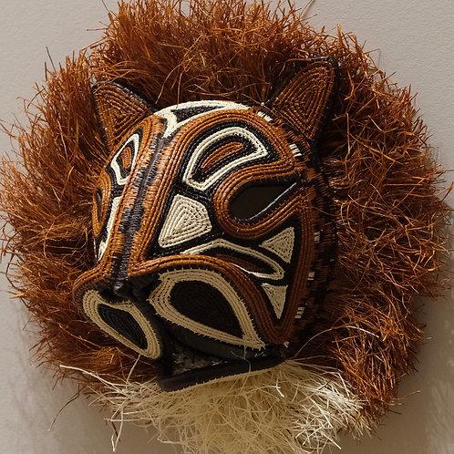 Brown Lion Emberá Mask