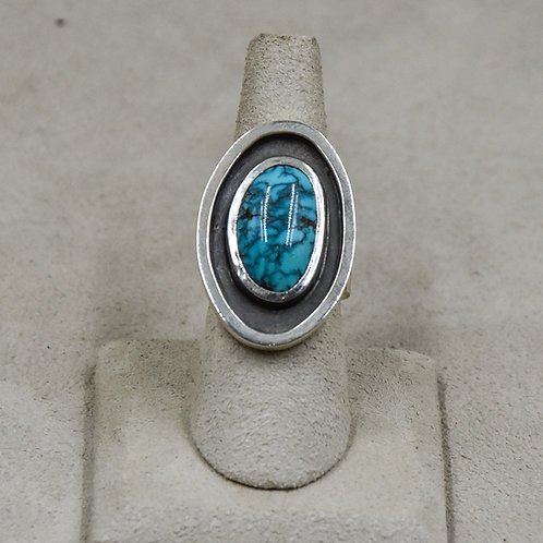Natural Lone Mountain Turquoise 7.25x Ring from True West
