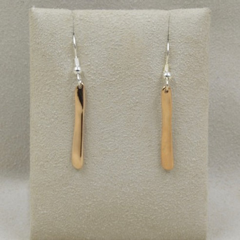 Bronze 1/2 Wave Wire Earrings by Richard Lindsay