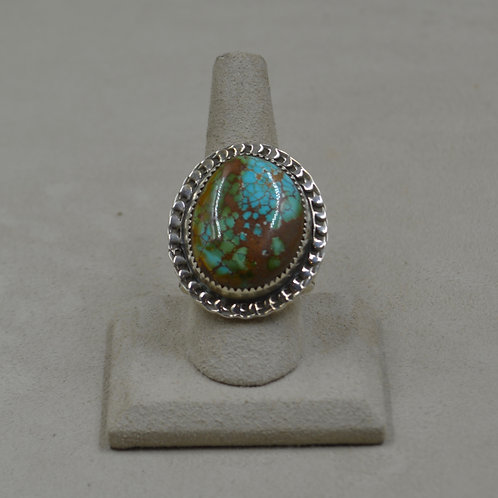 Baby Blue Turquoise 10x Sterling Silver Ring by James Saunders