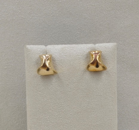 Baby Bronze Bell Helicurve Earrings by Richard Lindsay