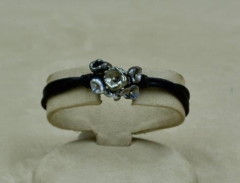 Tah Keshi Pearl Black Cord Bracelet by US Pearls
