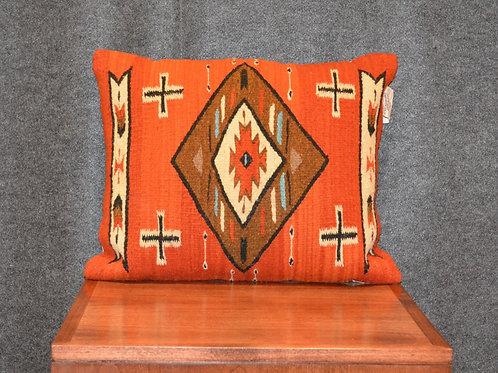 "Set of 2 Fino Salmon Geometric Pillows - 16"" X 21"""