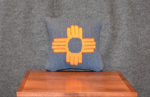 """Set of 2 Zia Lite Blue Pillows - 12"""" X 12"""""""