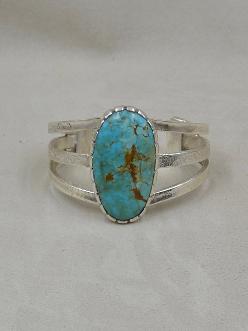 Natural Crescent Valley Turquoise 3 Band Cuff by JP Arviso