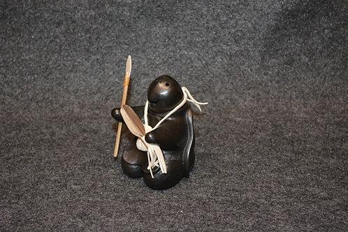 Mini Turtle Warrior Scupture by Randy Chitto